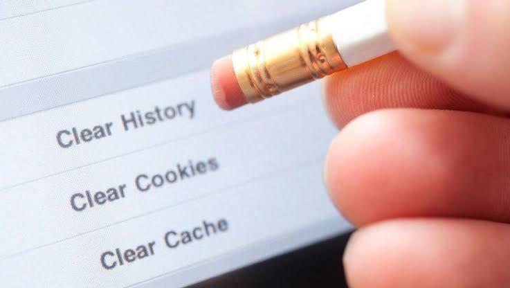 Hapus cache browser biar internet tidak lemot