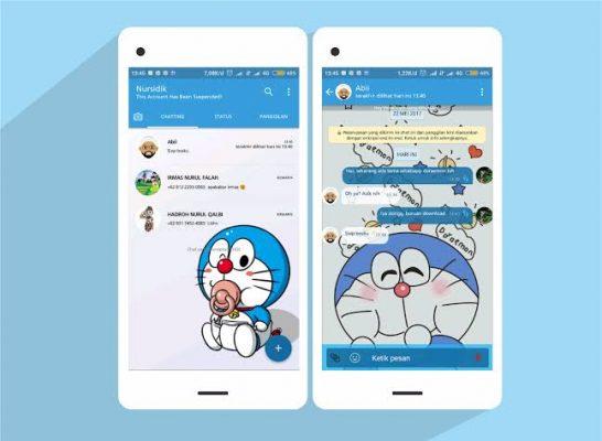 Tema WhatsApp Doraemon terbaru