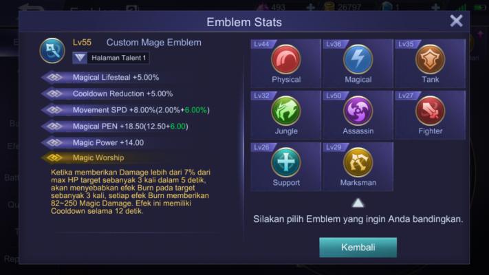 Custom Emblem Mobile Legends Terbaru