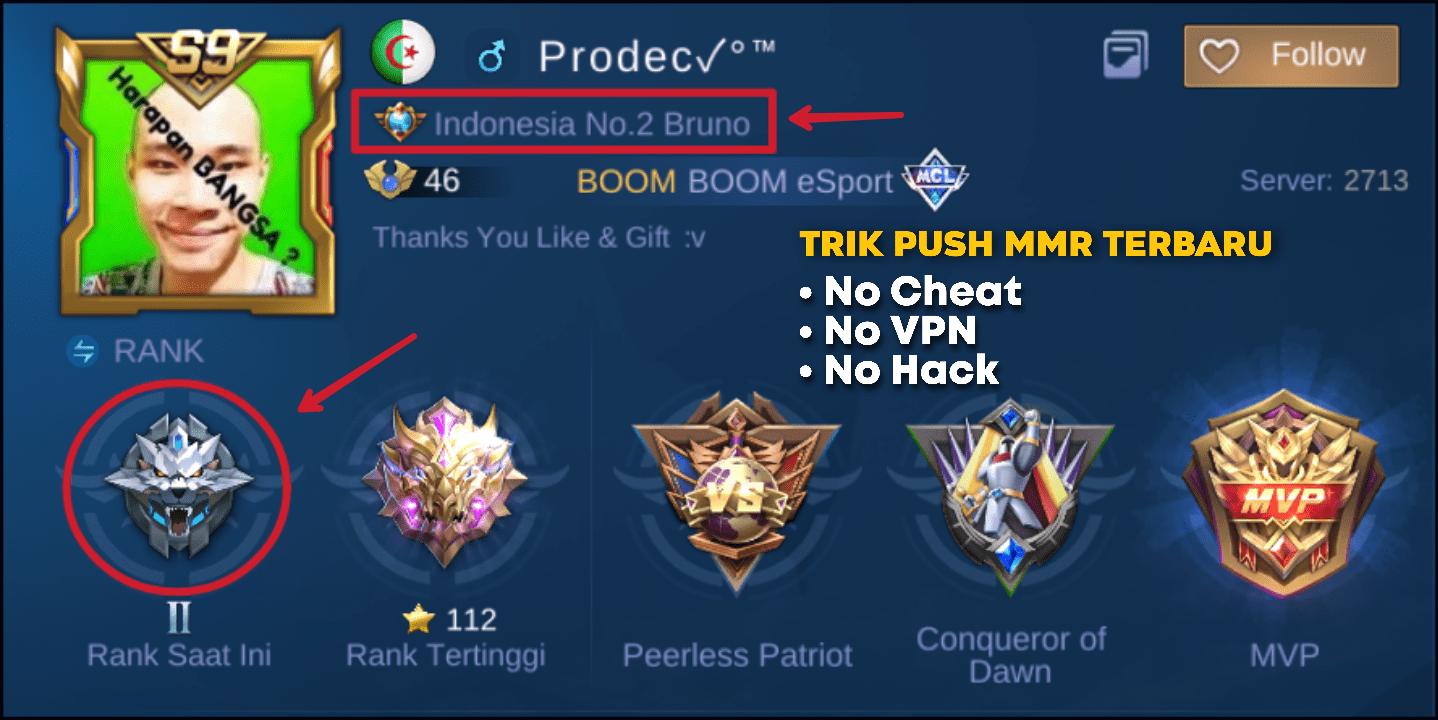 Trik push MMR Top Global Hero
