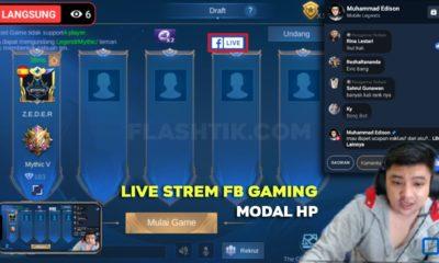 cara live stream facebook gaming di hp