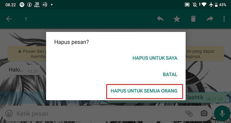 Cara Melihat Pesan Whatsapp Dihapus