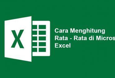 Cara Mencari Rata-Rata Microsoft Excel